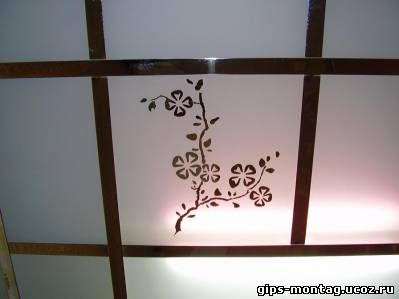 потолки квадрат из гипсокартона фото