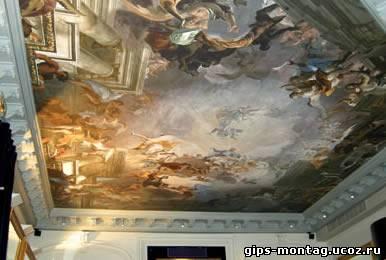 Дизайн потолков в зал из гипсокартона