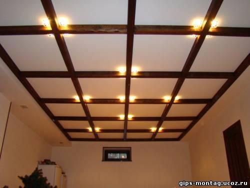 Потолок из гипсокартона своими руками цены